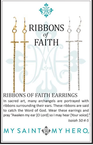 My Saint My Hero Ribbons Of Faith Earrings
