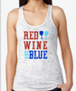 Meraki360 Red Wine and Blue Burnout Razor Tank