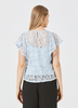 Angel Eye Beth Top in Sky Blue and Off White