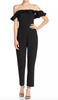 French Connection Whisper Light Ruffle Off the Shoulder Jumpsuit