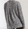 Z Supply The Leopard Thermal Split Neck Top