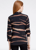 Nic + Zoe Abstract Animal Print Top