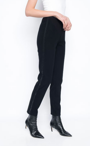 Picadilly Pull-On Pants with Rhinestones at Sides