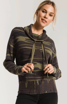 Z Supply The Camo Cowl Neck Thermal