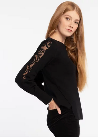Nic + Zoe Flash of Lace Sweater