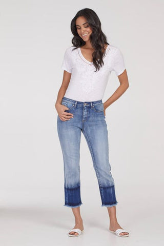 Tribal Audrey 5 Pocket Straight Crop Jeans