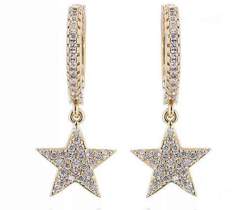 Bracha She's A Star Huggie Earrings