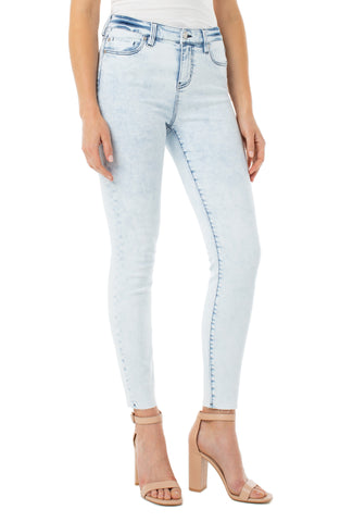 Liverpool Abby Ankle Skinny with Cut Hem