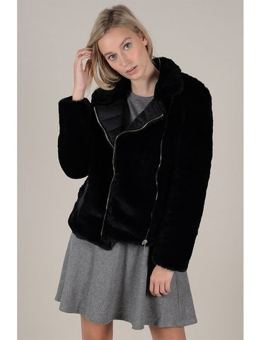 Molly Bracken Reversible Faux Fur Puffer Jacket