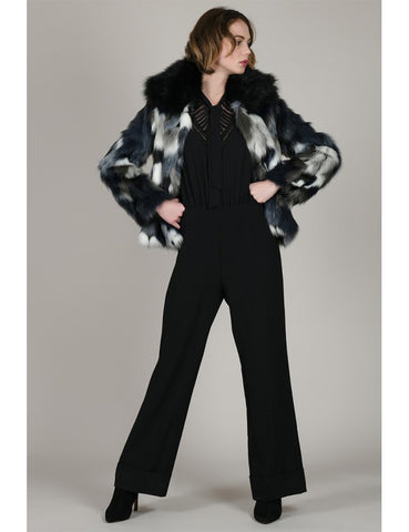 Molly Bracken Premium Faux Fur Print Jacket