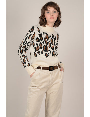 Molly Bracken Lili Sidonio Leopard Sweater