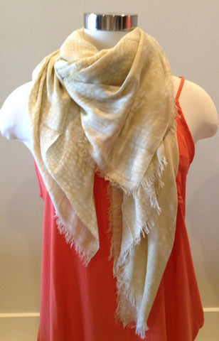 Rectangle Cashmere and Silk Scarf By Blue Pacific