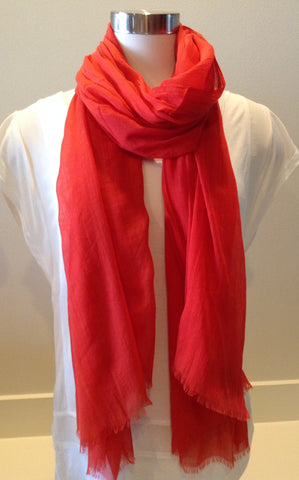 RECTANGLE SILK AND LINEN SCARF BY BLUE PACIFIC