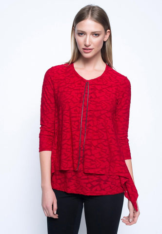 Picadilly Layered Top in Scarlet