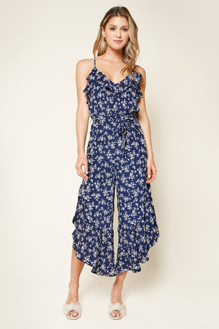 Sugarlips Floral Ruffle Jumpsuit