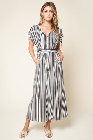 Sugarlips Striped Wide Leg Jumpsuit