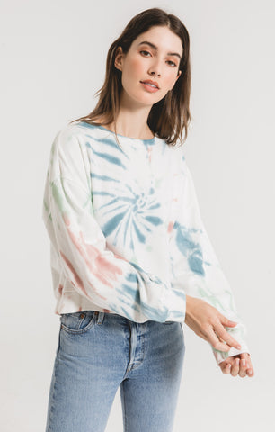 Z Supply Multi Color Tie Dye Pullover