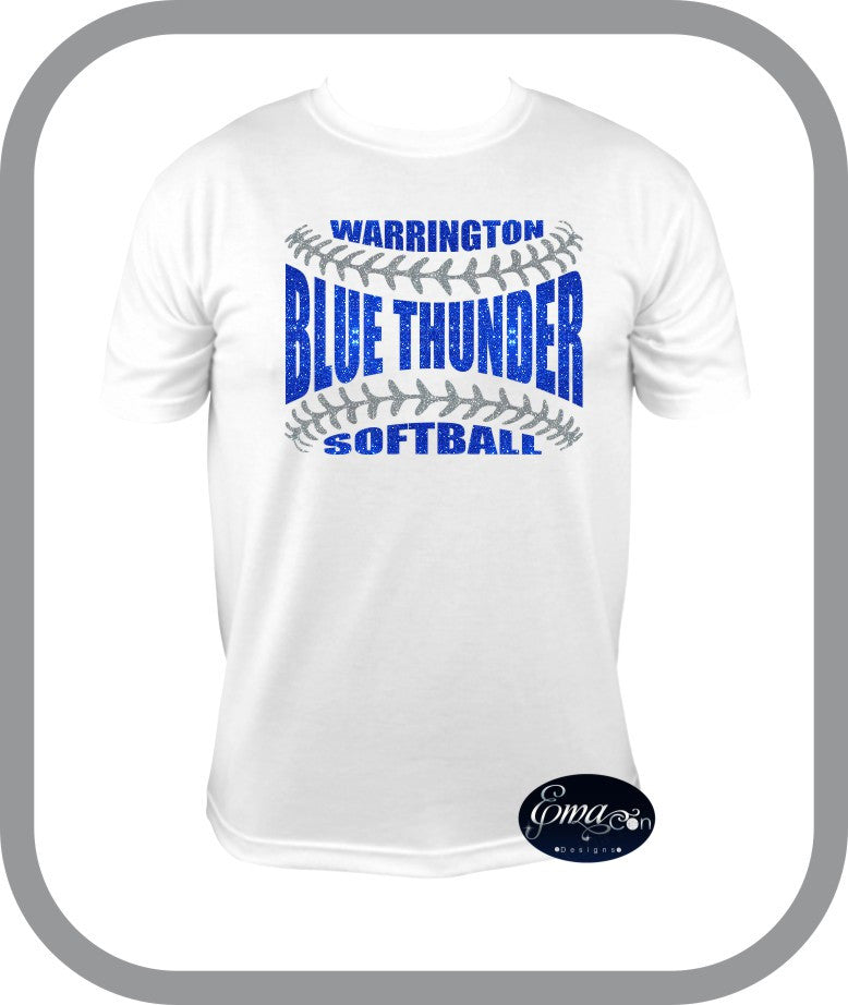 Blue Thunder Softball - Mens TShirt