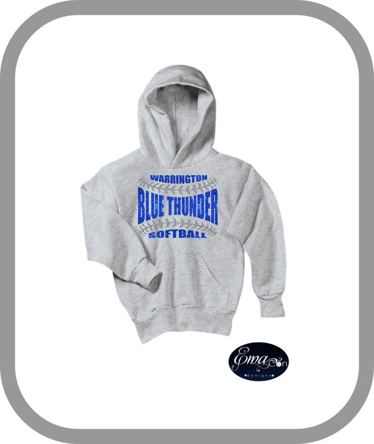 Blue Thunder Softball - Youth Pullover Hoodies