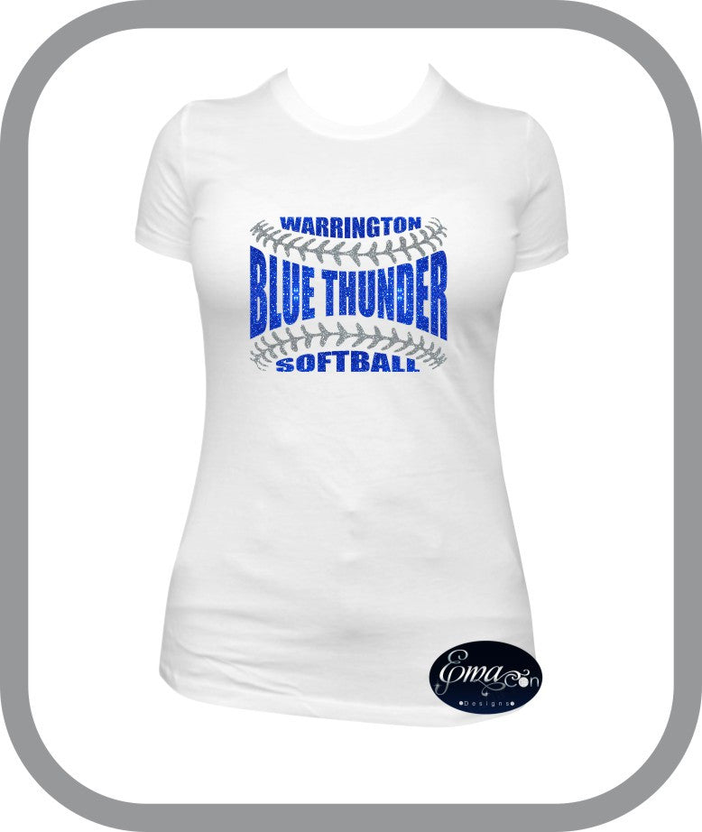 Blue Thunder Softball - Ladies T-Shirt