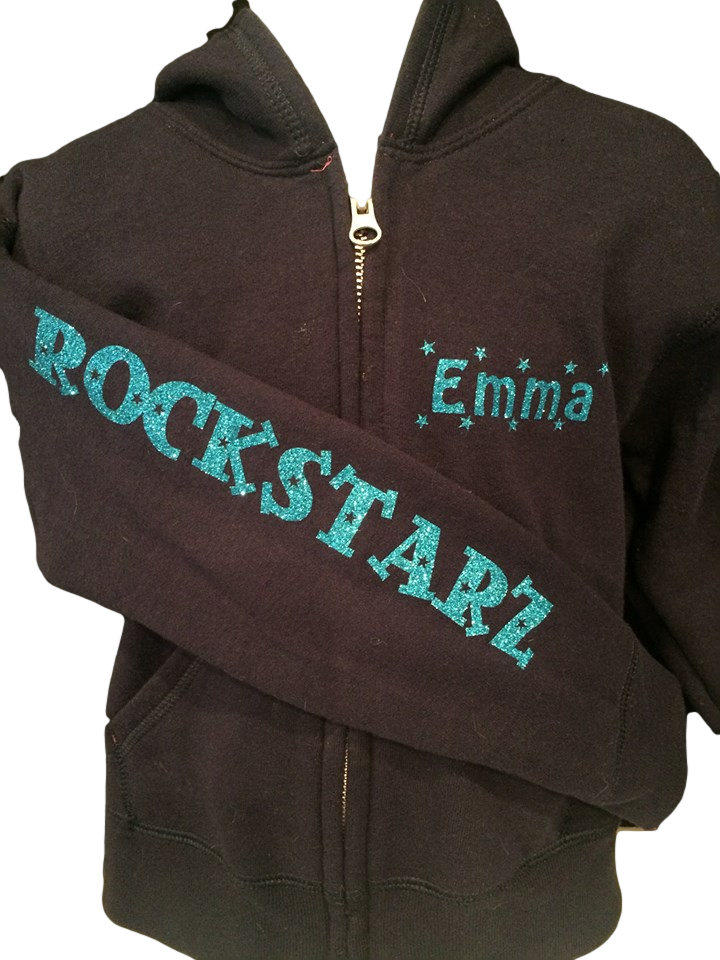 Rock Starz - Girls Zip Up Hoodies with choice of design