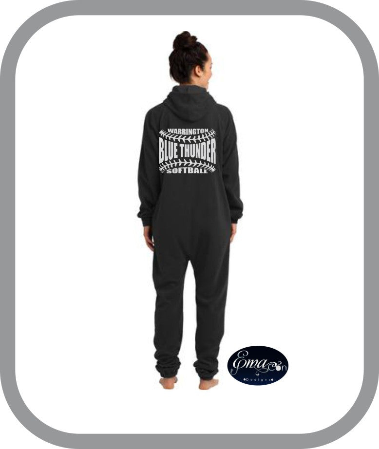 Blue Thunder Softball - One Piece Pajamas