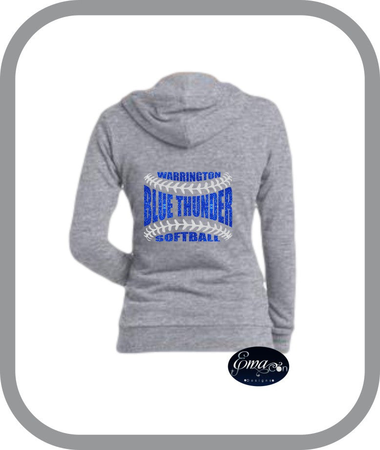 Blue Thunder Softball - Ladies Zip Up Hoodies