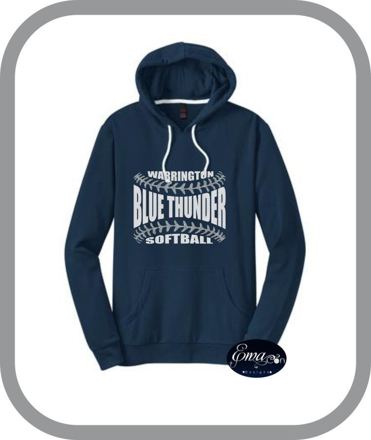 Blue Thunder Softball - Ladies Pullover Hoodies