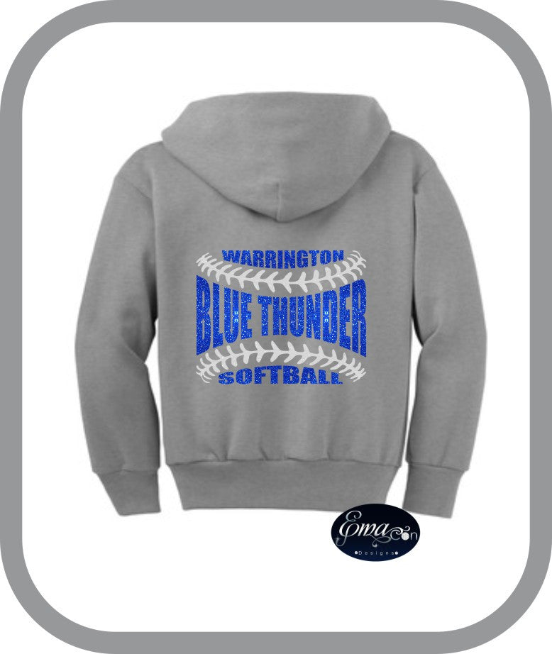 Blue Thunder Softball - Youth Zip Up Hoodies