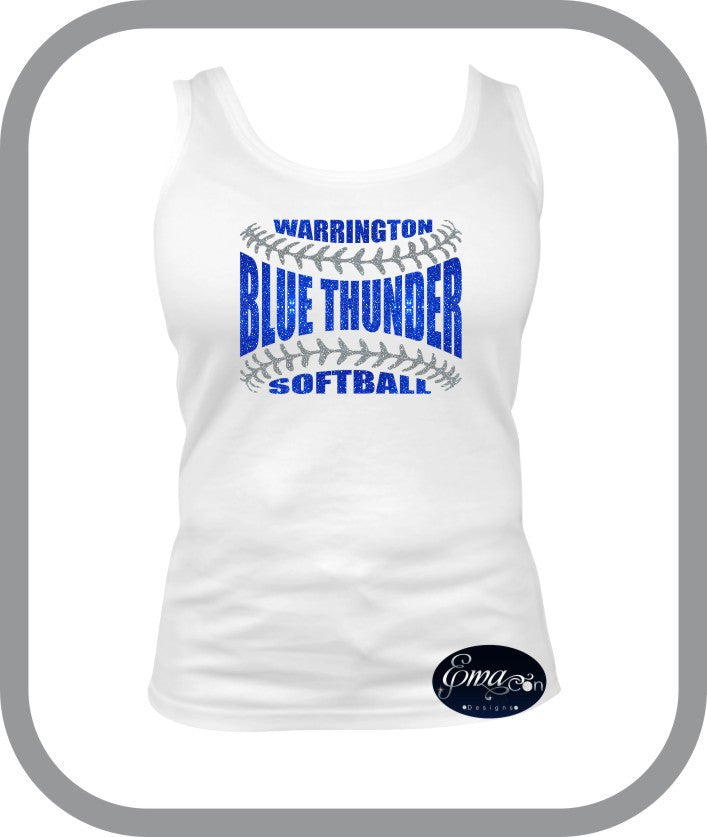 Blue Thunder Softball - Ladies Tank Top