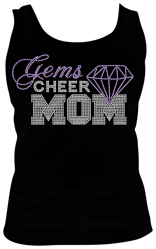 GEMS - Cheer Mom Bling Tank Top