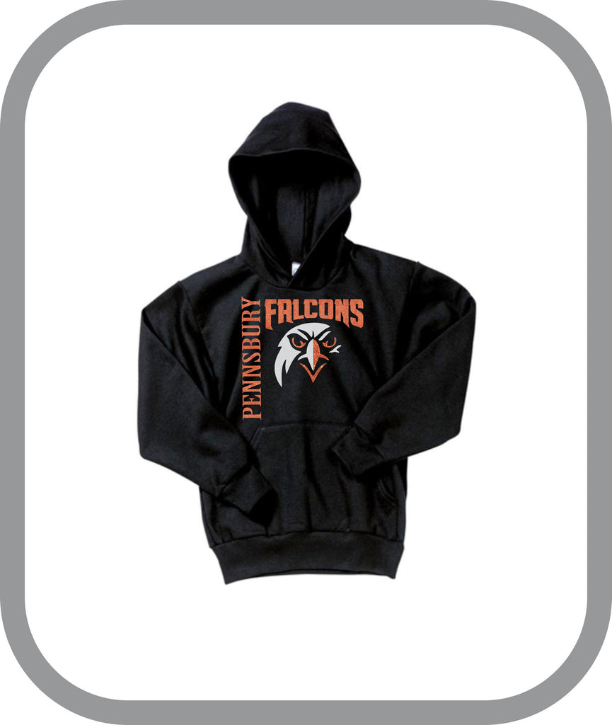 Falcons Wrestling - Girls Pullover Hoodies with choice of design