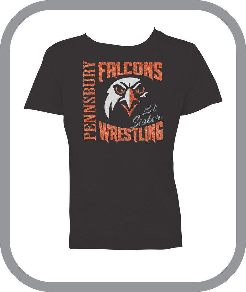Falcons Wrestling - Girls TShirt with choice of design