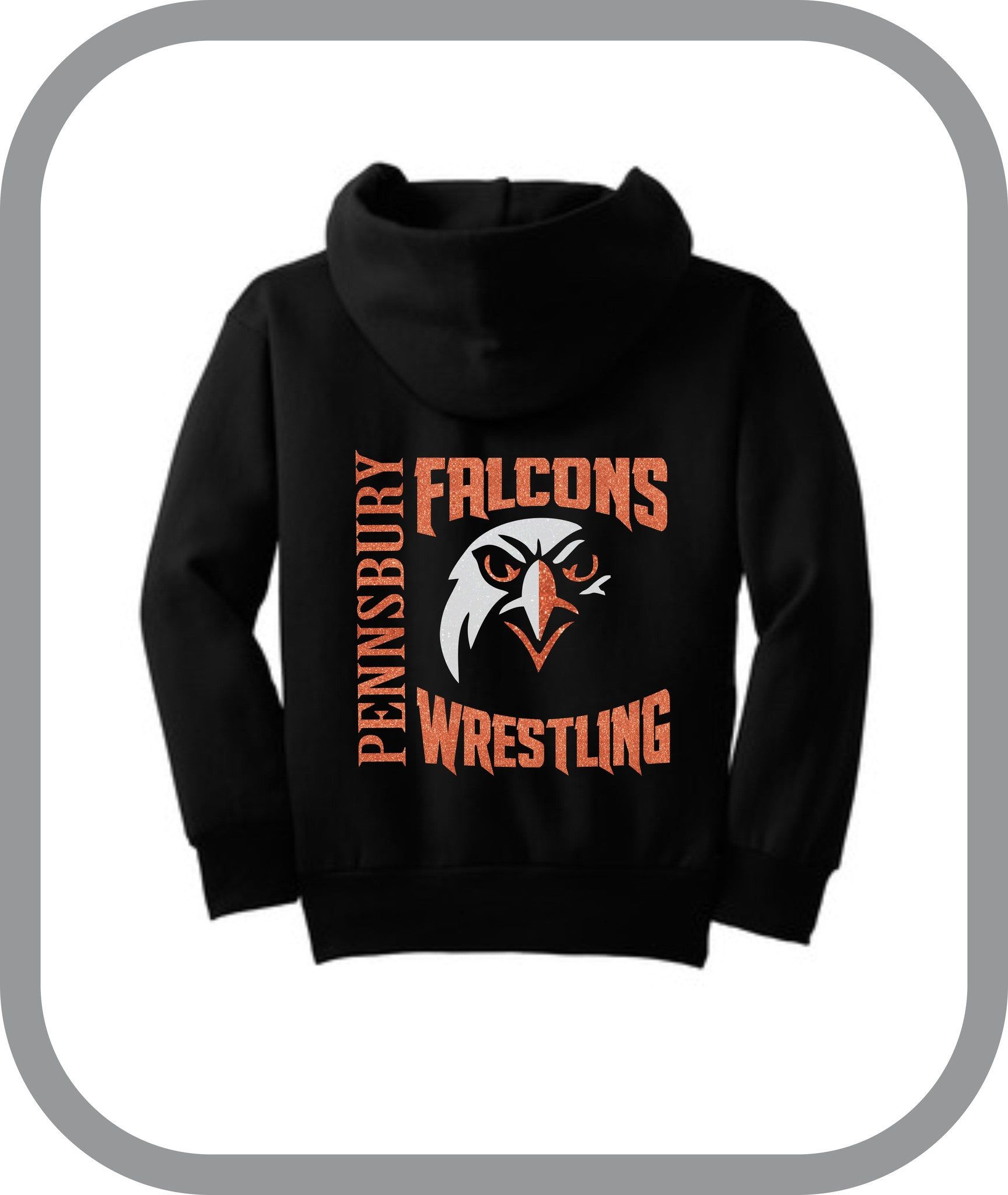 Falcons Wrestling - Girls Zip Up Hoodies with choice of design