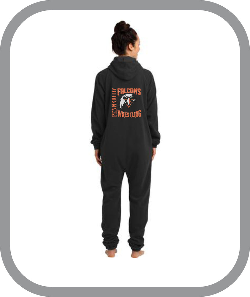 Falcons Wrestling - One Piece Pajamas with choice of design
