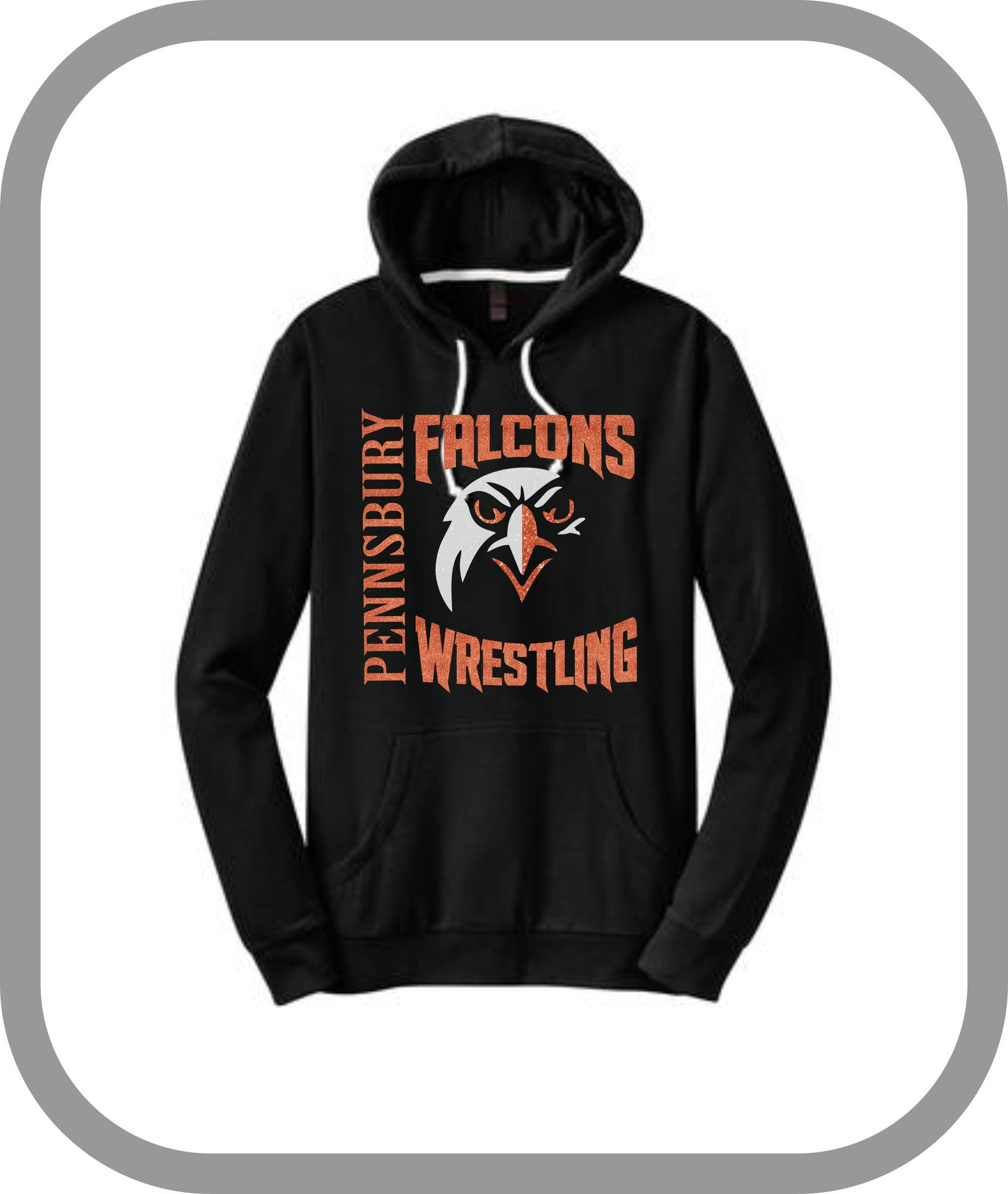 Falcons Wrestling - Ladies Pullover Hoodies with choice of design