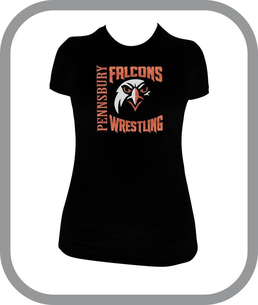 Falcons Wrestling - Ladies TShirt with choice of design