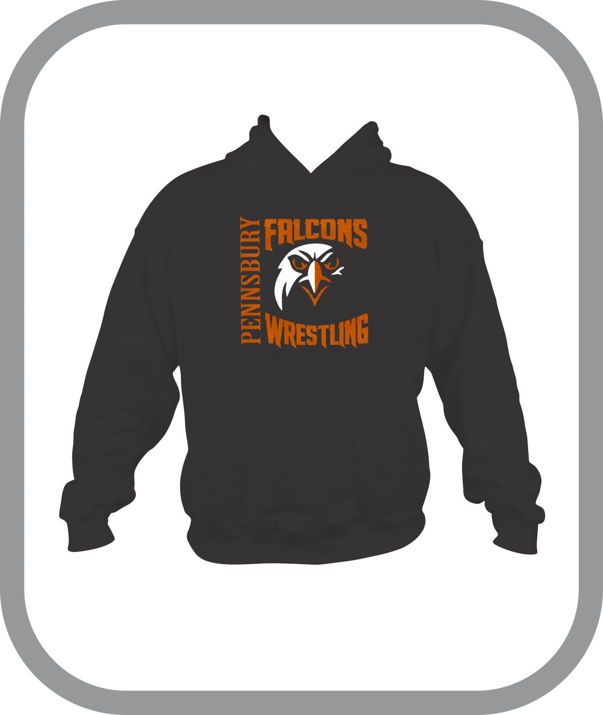 Falcons Wrestling - Mens Pullover Hoodies with choice of design