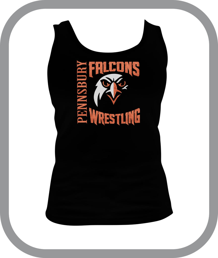 Falcons Wrestling - Ladies Tank Top with choice of design