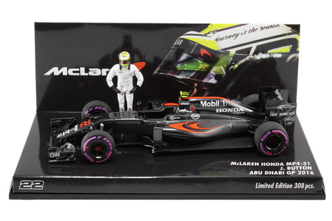 1/43 MINICHAMPS JENSON BUTTON ABU DHABI 2016 - LIMITED 308PCS - MIKILEE