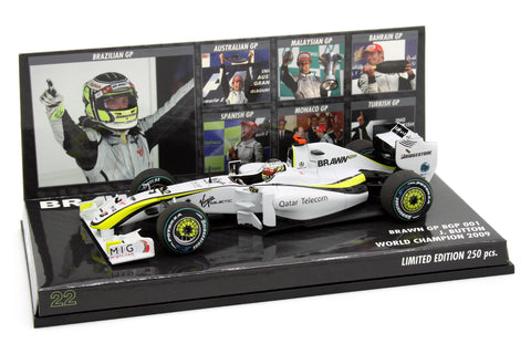 1/43 MINICHAMPS JENSON BUTTON 2009 BRAWN WORLD CHAMPION - LIMITED 250PCS - MIKILEE