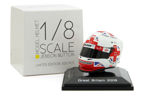 Spark 1/8 Scale Jenson Button 2009 British Grand Prix Helmet