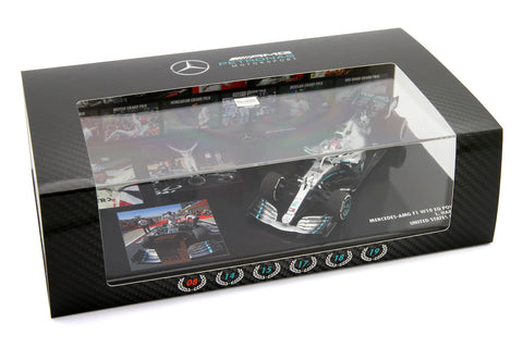 1/43 MINICHAMPS LEWIS HAMILTON MERCEDES 2019 WORLD CHAMPION - LIMITED 100PCS - MIKILEE
