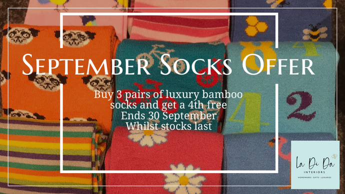 September Sock Offer and New Arrivals