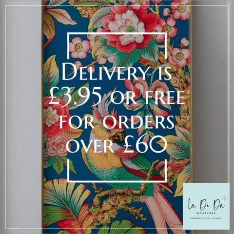 Delivery £3.95 or free for orders over £60