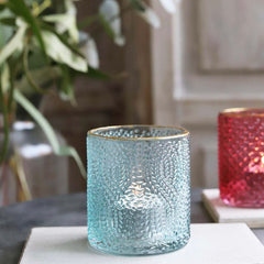 Aqua Blue Tealight Holder