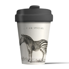 I am special zebra bamboo coffee cup