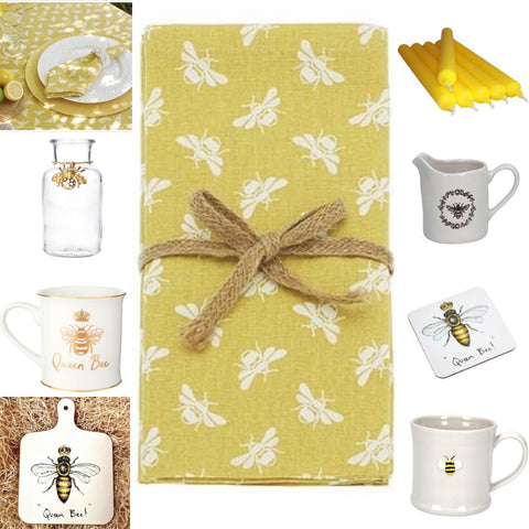 Bee Themed Tablescaping