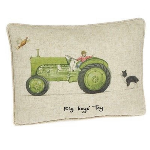 Big Boy's Tractor Cushion