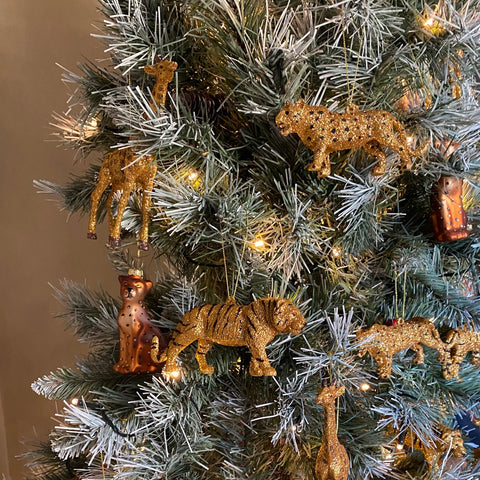 Christmas Tree Decoration in Tiger & Leopard